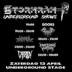 Stormram 2019 - Underground Shows - Stevige Blackened Death Metal shows!
